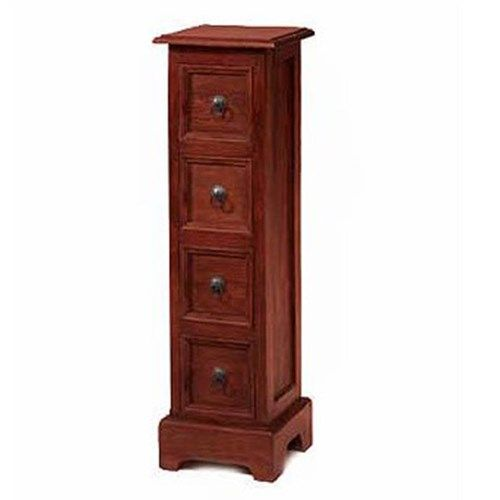 Heritage Furniture UK Delhi Indian 4 Drawer CD Storage Unit