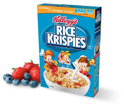 Rice Krispies - I like the gluten free version with brown rice, too bad they discontinued it