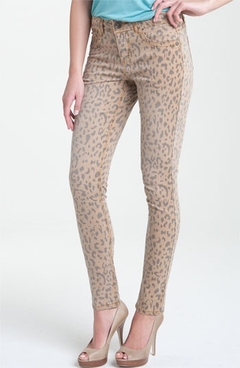 Wit and Wisdom Animal Print Skinny Stretch Jeans (Nordstrom Exclusive)