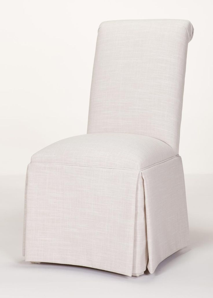custom chairs delivered in days scroll back parson chair with kickpleat skirt