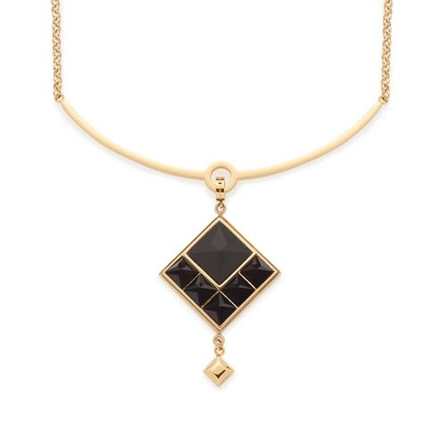 Elegante Leonardo-Halskette Nuovo 016044 https://www.thejewellershop.com/ #leonardo #glasstein #halskette #chain #necklace #black #golden #kette #jewelry #schmuck