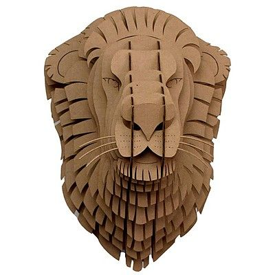 free cardboard taxidermy templates - 39 leon 39 the cardboard lion head mount paper cardboard