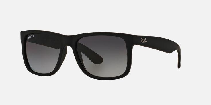 Ray-Ban RB4165 54 JUSTIN 54 Grey & Black Polarised Sunglasses | Sunglass Hut United Kingdom