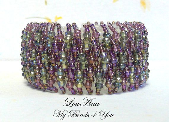 Beadwoven Cuff Beadwoven Bracelet Seed Bead Bracelet