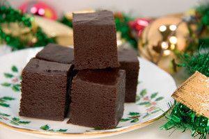 Chocolate Eggnog Fudge