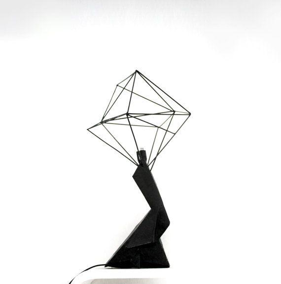 Geometric lampshade  paper mache sculpture  by popRenaissance, $69.00