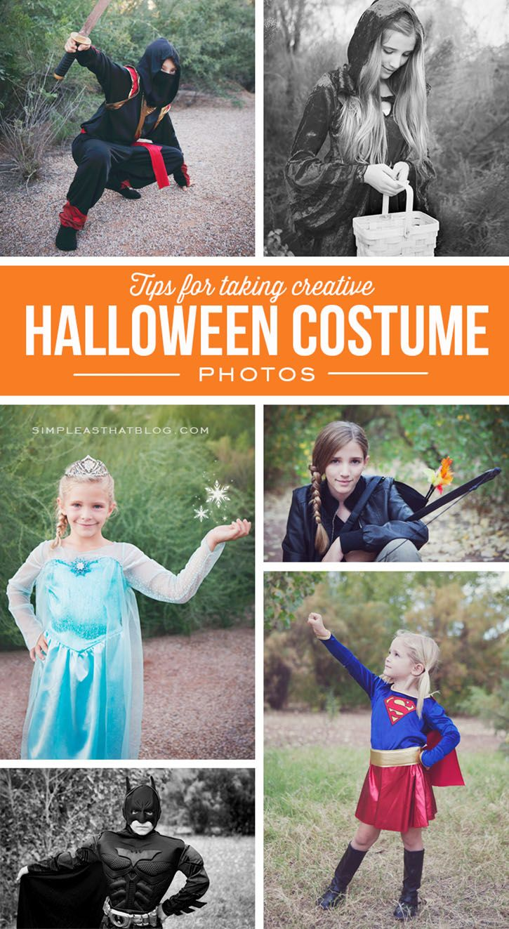 Tips for taking creative Halloween photos of your kids in their costumes.