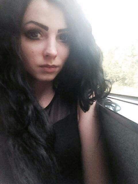 #black #long #hair #black #outfit #dark #eyes