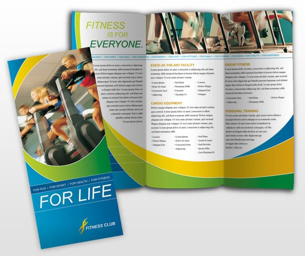 Tri-Fold Brochure Template Healthy Lifestyle Pinterest - Gym Brochure Templates