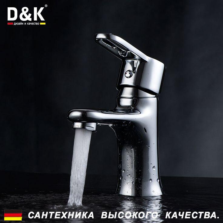 """Купить D&K DA1352141 Высокое Качество Умывальник Кран, Однорычажный смеситель для раковины, в Хром, Керамический картридж 35мм, гибкая подводка 1/2"""" длиной 40cм, в ваннуюи другие товары категории Смесители для умывальникав магазине D&K Official StoreнаAliExpress. водопроводной воды очиститель блока и водопроводной и умереть"""