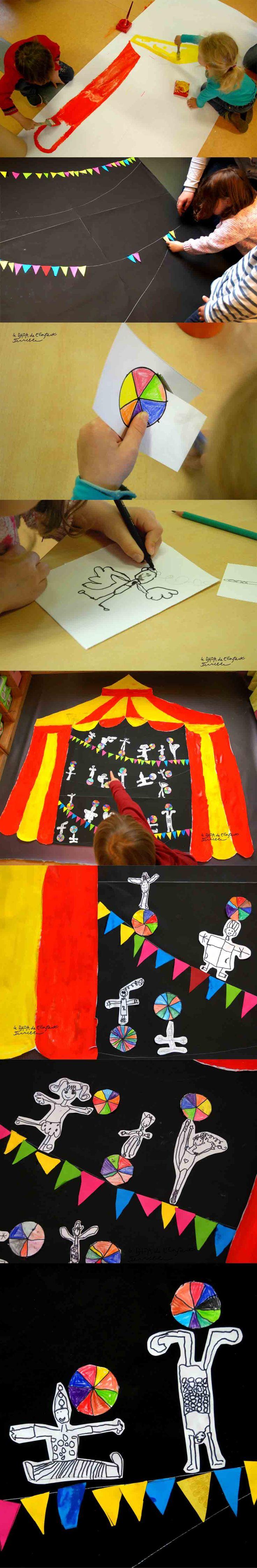 Cirque - projet de classe, école maternelle