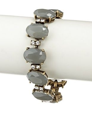 65% OFF Leslie Danzis Gray Infinity Crystal Bracelet