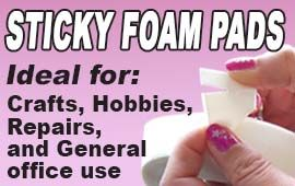 Sticky Foam Pads... Ideal for #Crafts #Hobbies #Repairs and general office use! Get yours from www.directa.co.uk