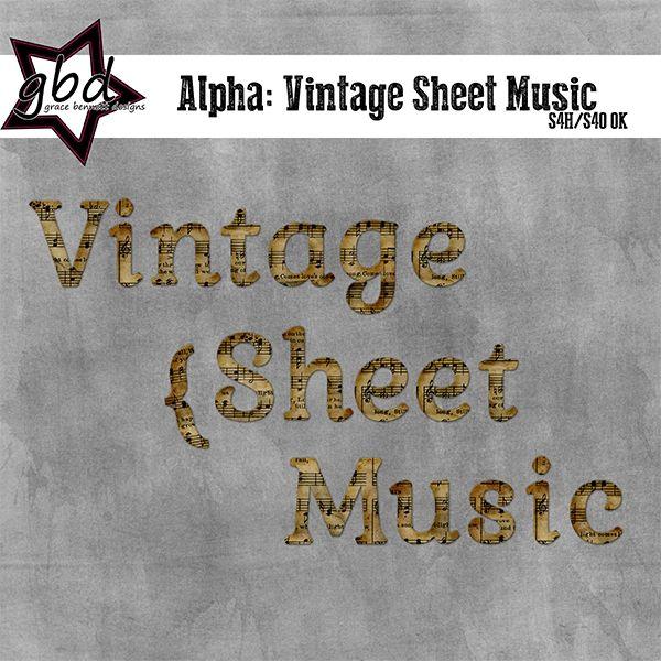 Alpha: Vintage Sheet Music