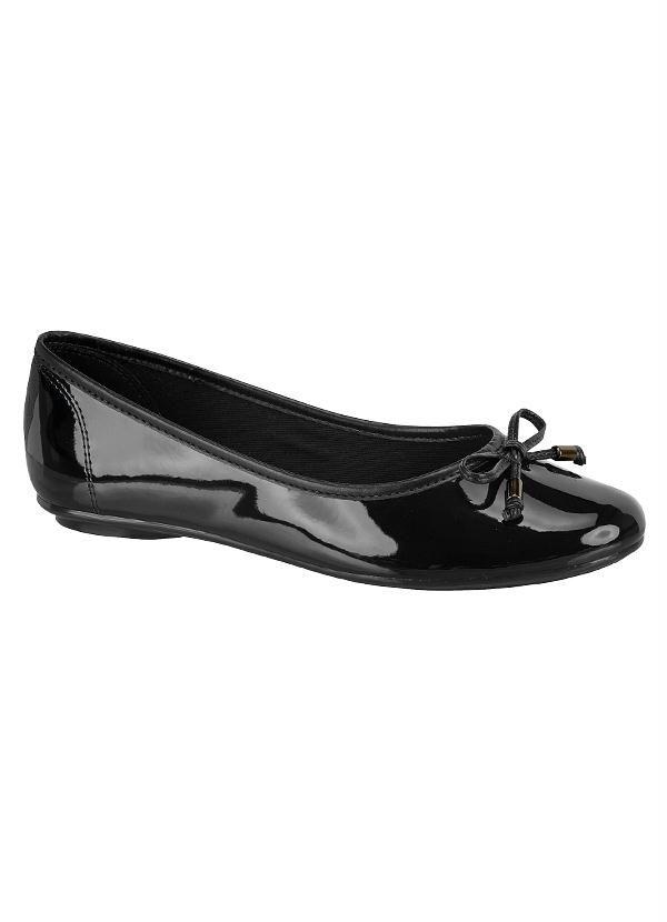 88810e059 Sapatilha Moleca Fresh com Detalhe de Laço Moleca, Sapatos Femininos,  Sapatilhas, Preto