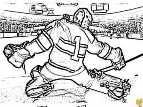ice cold hockey coloring pages video by yescoloring