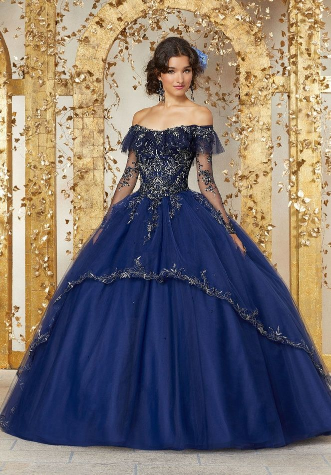 3eb602e1642 Crystal Beaded Embroidery on a Tulle Ballgown  89235 in 2019