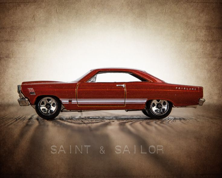 Vintage Muscle Car Maroon 1966 Ford Fairlane GT