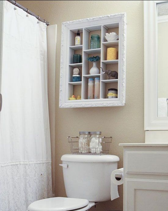 Repurposed Picture Frame Ideas | DIY Bathroom Organization Ideas