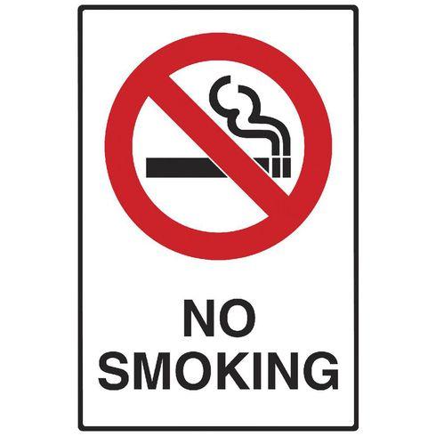 NO SMOKING (450x600mm) - Metal $34.10 (Inc GST)