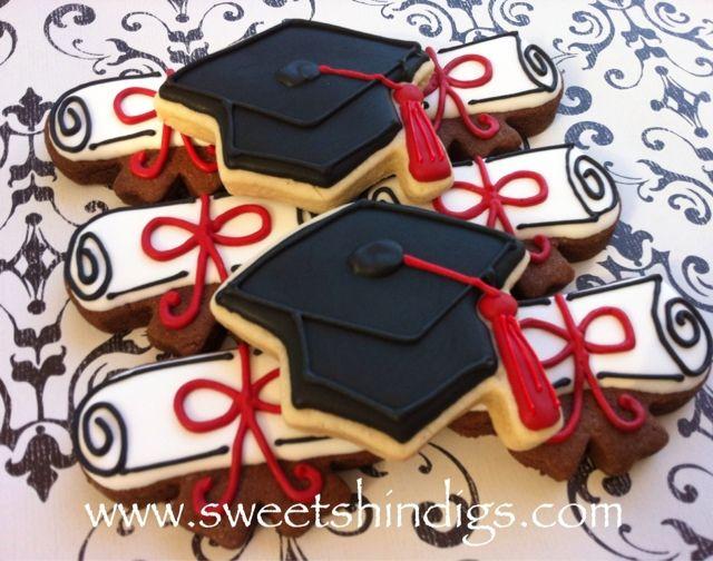 Sweet Shindigs: Texas Tech Graduation Cookies