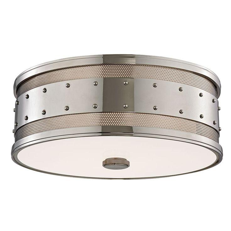 Miguel Bathroom Hudson Valley Lighting Hudson Valley Lighting Gaines Polished Nickel Flushmount Light 2206-PN