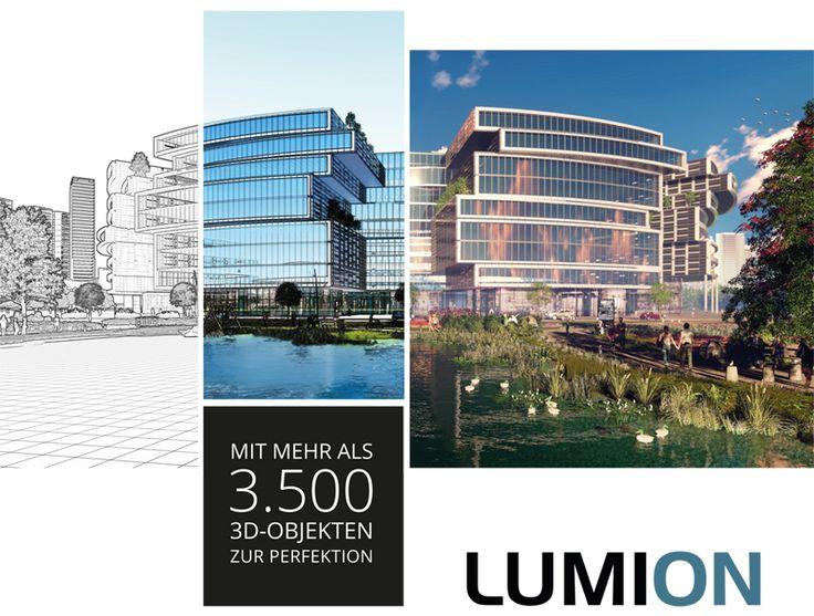 Vom reinen CAD Entwurf zur perfekten Visualisierung. Mit Lumion ist das nur spielend leicht möglich!  #lumion #lumion7 #architektur #visualisierung #architekturvisualisierung #rendering #CAD #Software3d