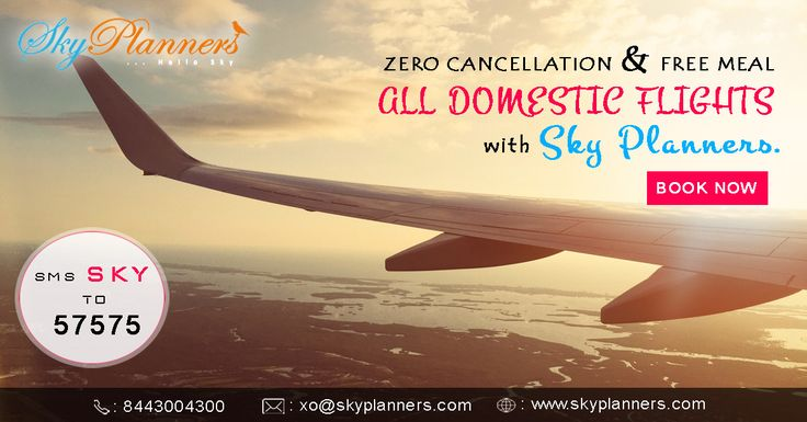 if anyone sale cheap domestic air tickets #offers, it has became easier for traveller to travel all around the world.Then you can travel for vacation, business purposes or emergency situation then people can go one place to another place within short period of time. So you can book flight tickets online @ low price from #SkyPlanners. We are providing Zero cancellation and free meals in all domestic #flightsbooking .  http://www.skyplanners.com/