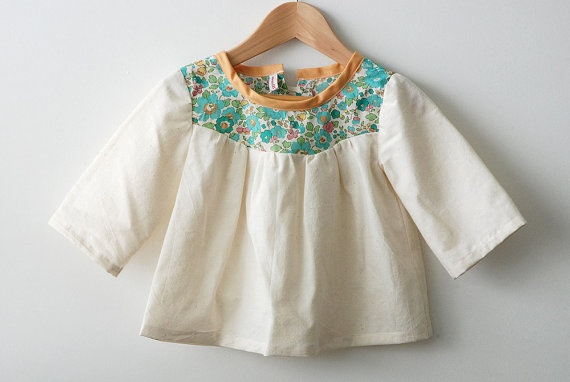toddler girls top / blouse / tunic with liberty by swallowsreturn, $32,00