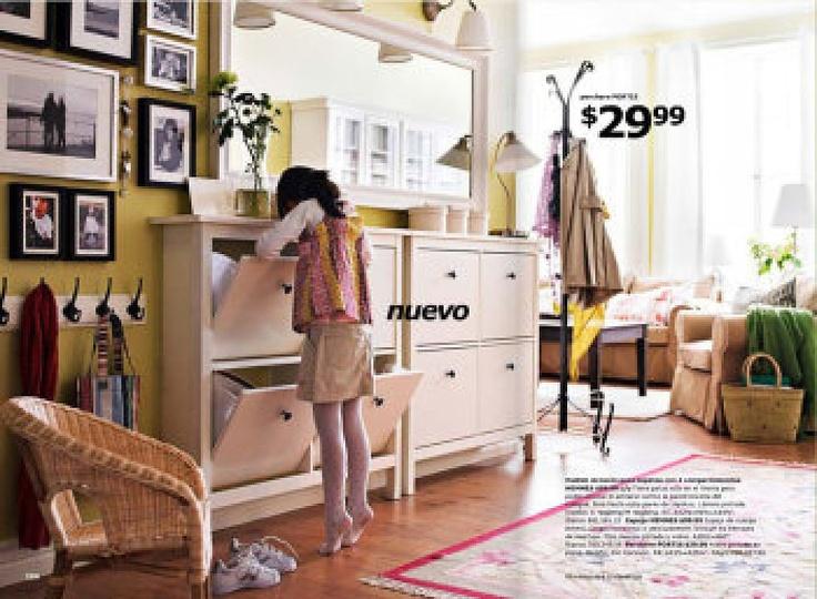 Zapateros hemnes para recibidor decorar tu casa es cuarto pinterest hemnes - Ideas para zapateros ...