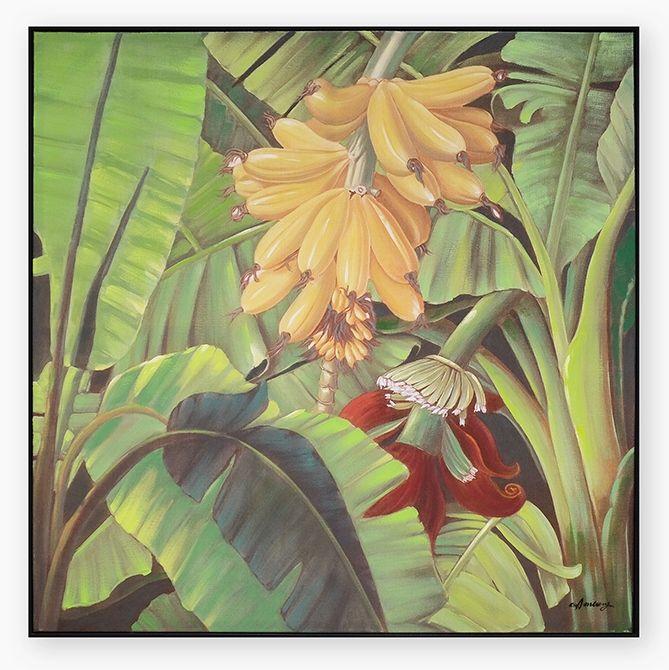 Quadro Folhas Flor 100 x 100 cm | A Loja do Gato Preto | #alojadogatopreto | #shoponline | referência 58868808