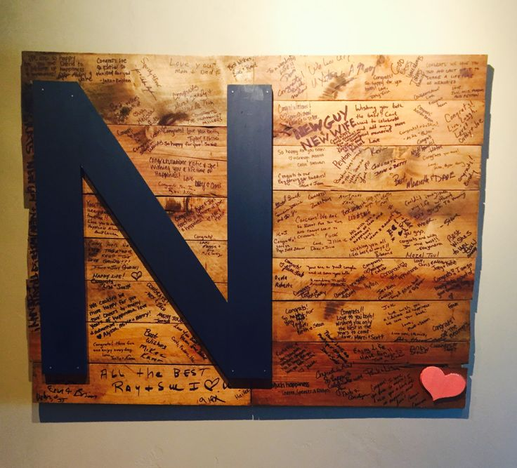 Wedding Initial Wooden Guest Book - Reclaimed Wood Pallet - Custom Made by TheAgedGrove on Etsy