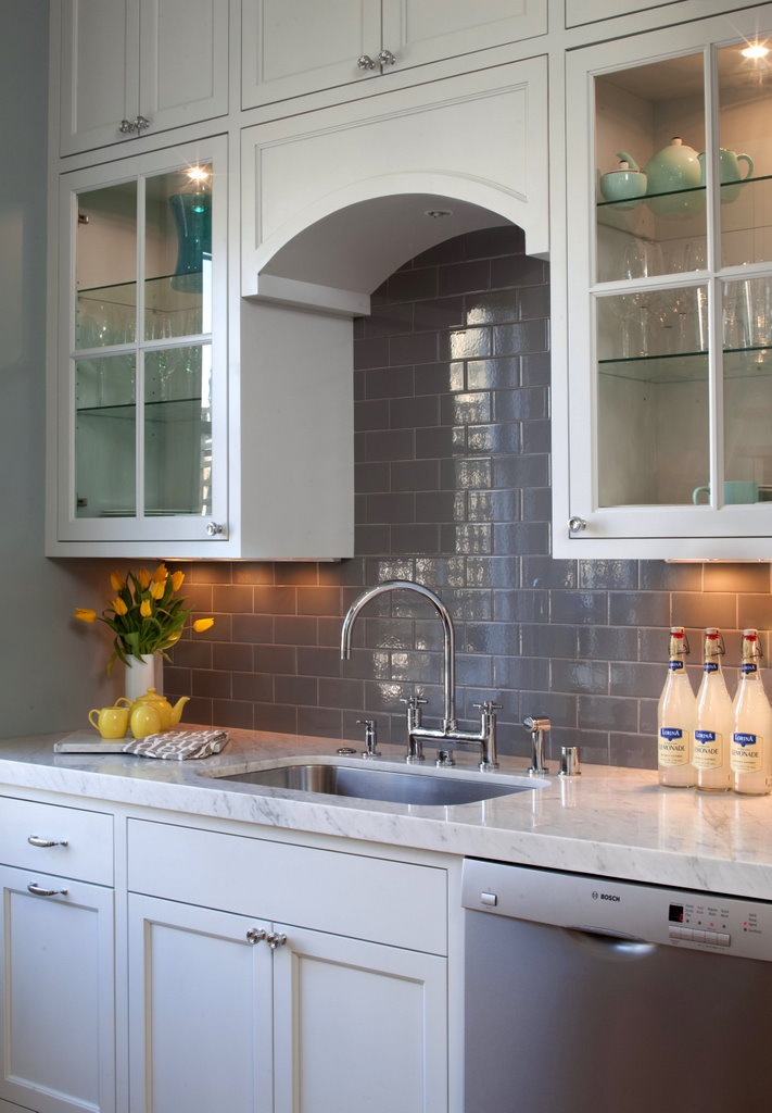 House Of Fifty Winter Spring 2012 Grey Subway Tiles Subway Tile Backsplash And The White