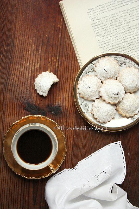 biscotti al passito con crema di castagne