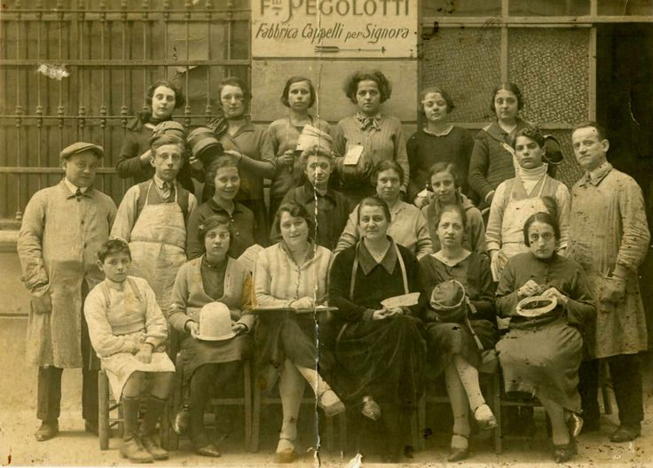 PEGOLOTTI-FABBRICA CAPPELLI PER SIGNORA-F 139-mestieri-Foto d Epoca/Old Photo