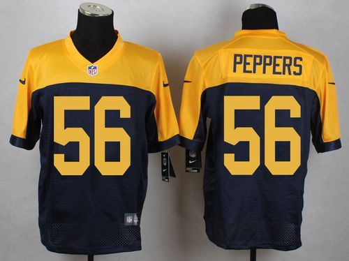 Green Bay Packers #56 Julius Peppers Navy Blue Alternate Men's Stitched NFL New Elite Jersey