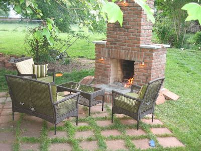 3 part series on building an outdoor fireplace that this DIY googler (no skills/no worries...that's what google is for) built.  Something like this is what I want to do.