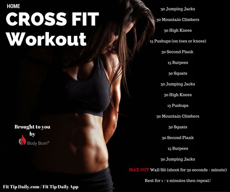 Use this at home Crossfit workout to bring the gym to you! No weights, no…