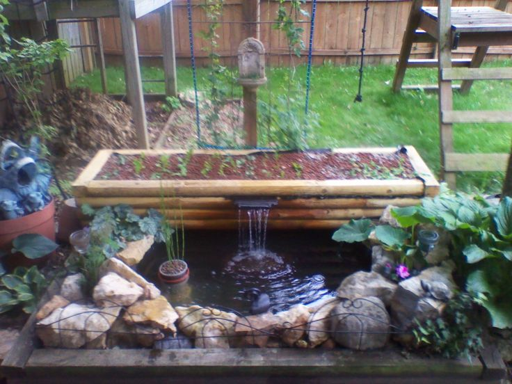 17 best images about aquaponics garden on pinterest for Garden pool aquaponics