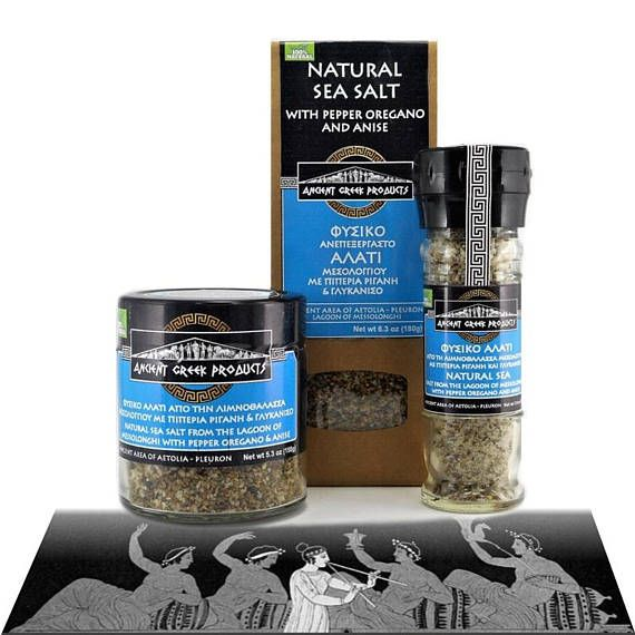 Natural sea salt of Messolonghi & Pepper mix Oregano Anise