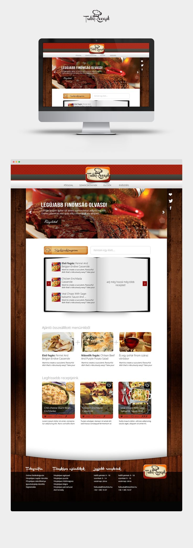 Recipes page, home. Gastro project. #gastro #food #design
