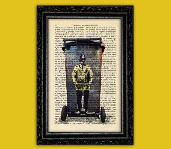 Banksy Trash Container Art Print - Wall Decor Poster Dictionary Poster Book Art Dorm Room Print Gift Wall Art