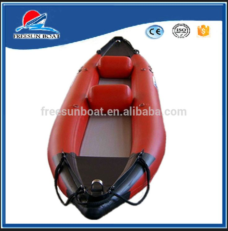 2 persons inflatable kayak & fishing canoes with airmat floor