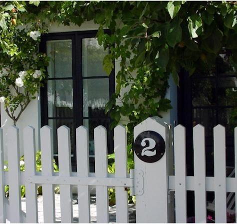 sweet picket fence, studio entrance