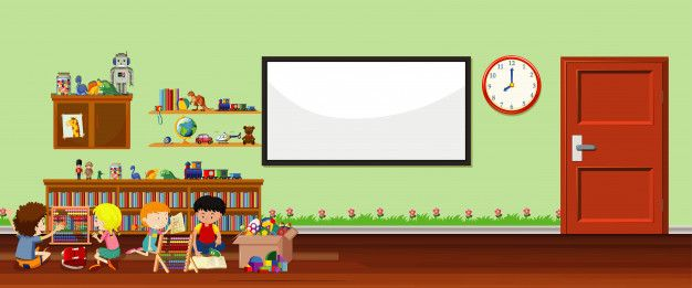Download Background Scene With Whiteboard And Toys For Free In 2020 Vector Free Colorful Backgrounds White Board