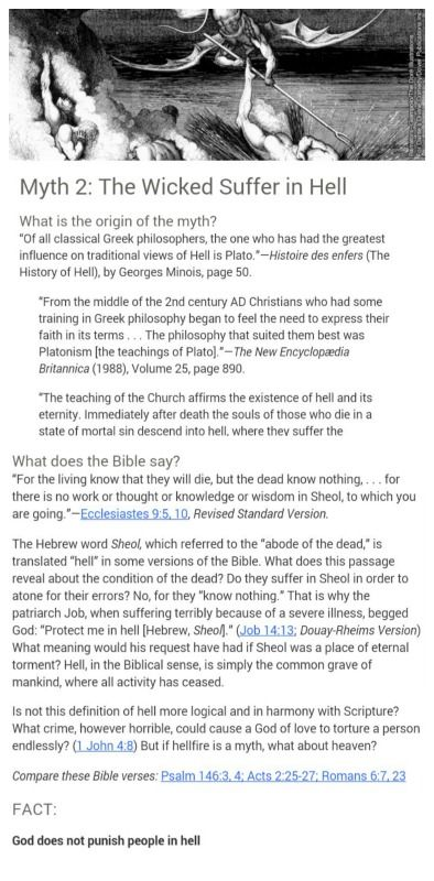 """""""Christian"""" teachings not actually taught in the Bible.....Myth 2 Hell ....just check it out..."""