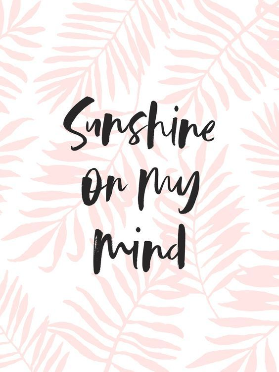 Sunshine On My Mind - Pink Palm Leaves Art Print