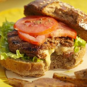 Inside-Out Cheeseburgers stuffed with cheese... Yum!