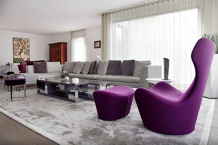 arredamento completo con cucina, soggiorno, armadi e terrazzo per una splendida villa a Morcote.