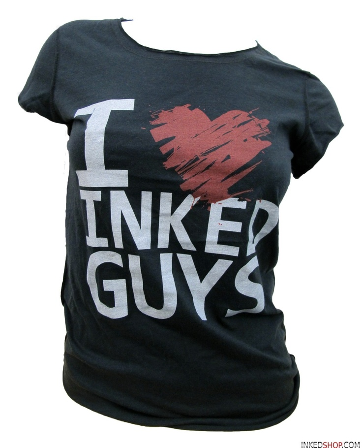 I Heart Inked Guys T-Shirt! Yup I will probably buy this!